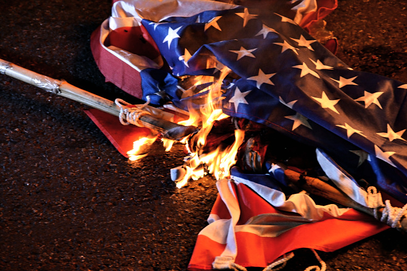 Argentines Burn American Flag in Front of American Embassy